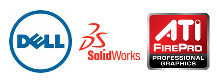 Dell-SolidWorks-ATI logo