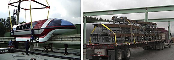 Although digital prototyping now enables Dynamic Structures to forego having to build full-scale prototypes, it's still common to see parts of popular rides take shape in the company's fabrication yard before they're shipped to well-known theme parks. (Images courtesy of Dynamic Structures and David Cohn.)