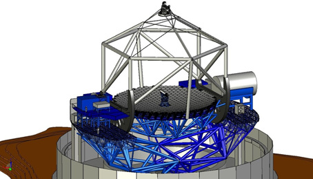 Every component of the Thirty Meter Telescope and its enclosure will be built digitally by Dynamic Structures using a combination of Autodesk software before the actual telescope is erected at the top of Mauna Kea in Hawaii. (Image courtesy of Dynamic Structures.)