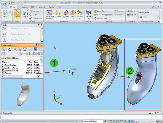 Place Components Efficiently In Solid Edge Cadalyst
