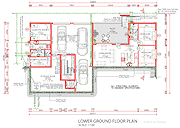 Lower ground floor plan, The Art of Living. (Click to view larger image.)