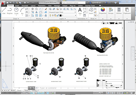 In AutoCAD 2013, it's simple to generate views, details, and sections of models that you import from Autodesk Inventor and other MCAD software.