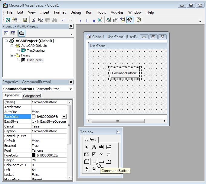 Drawing Lines In Userform : The world of autocad programming platforms part cadalyst