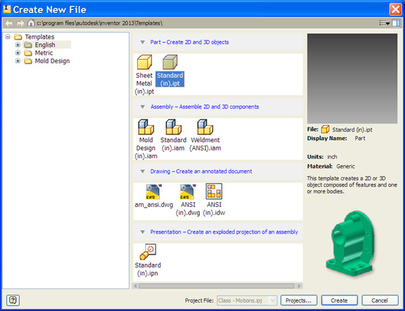 Figure 2. The Create New File dialog box has been completely revamped, and template files are now organized by type.
