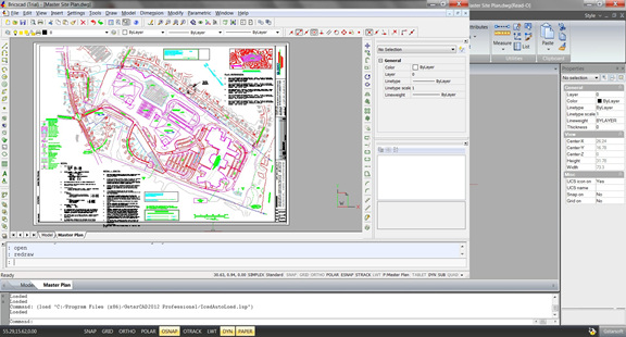A sample DWG file as it appears in Bricscad v12 Pro.