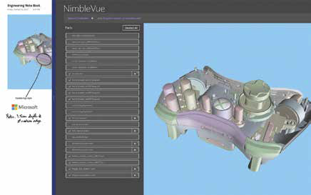 With NimbleVue for JT, users can easily navigate and comment on a product's<BR>design via mobile and desktop devices.