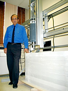 Behrokh Khoshnevis is director of the Center for Rapid Automated Fabrication Technologies (CRAFT) at USC and developer of the Contour Crafting machine. Image courtesy of CRAFT.