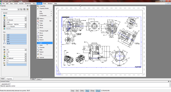 Figure 1. DraftSight's user interface will look very familiar to AutoCAD aficionados.