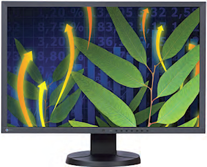 "The 24"" EIZO FlexScan EV2436W features antiflicker technology and a native resolution of 1,920 x 1,200."