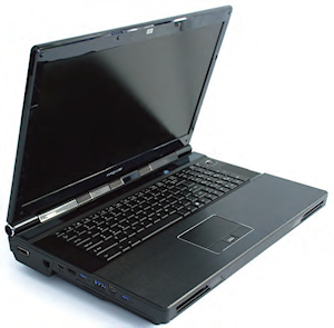 Eurocom's Panther 4.0 system offers workstation power and expandability in a portable package.
