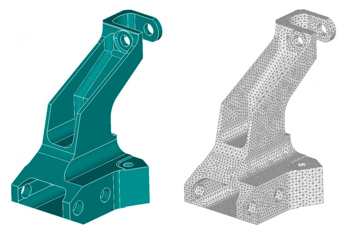 Restore associativity between imported cad and fea models Cad models