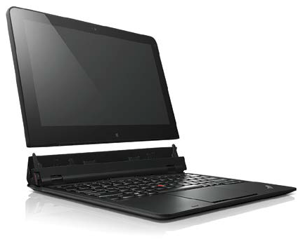 With a detachable screen that can function as a tablet, the Lenovo ThinkPad Helix can be configured four different ways.