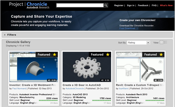 Figure 1. With Autodesk Chronicle, you can make simple how-to videos for your CAD team.