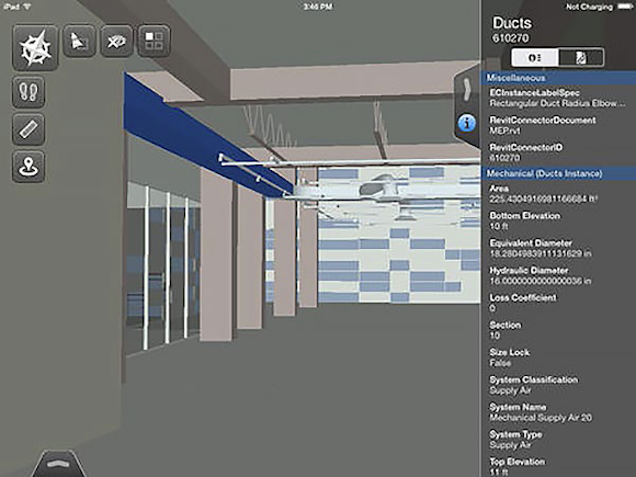 Navigator Mobile's object property window rivals some desktop applications.