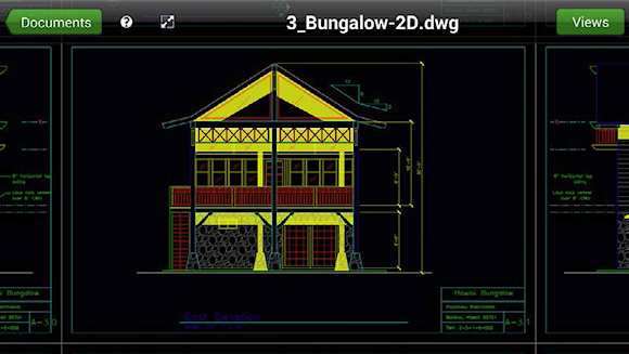 The TurboViewer CAD viewer in 2D display mode.