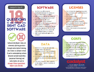 18 Questions to Ask Before You Rent CAD Software