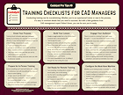 Cadalyst Pro Tips #9: Training Checklists for CAD Managers