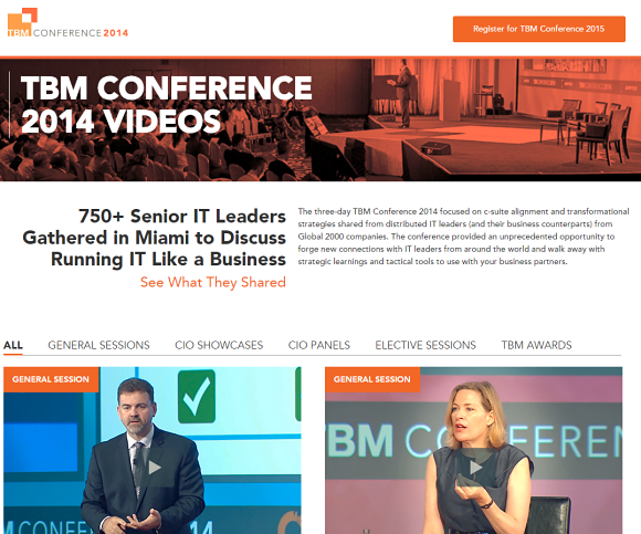 TBM Conference video summary page