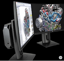 Mount the HP Z2 Mini behind a monitor and its footprint becomes essentially zero.