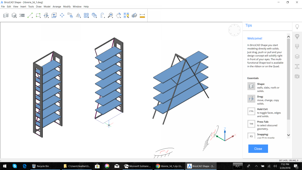 BricsCAD Shape Offers Free DWG-Based Architectural Concept Modeling